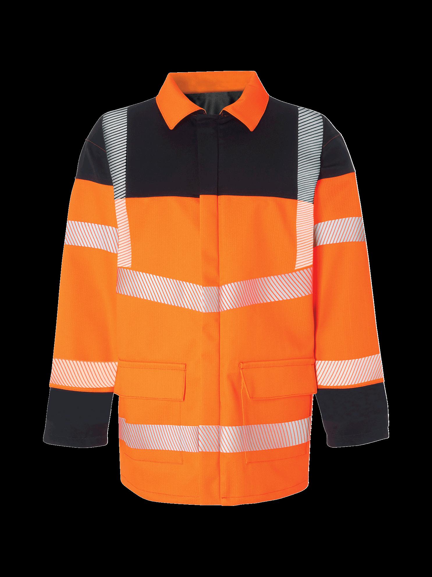 Picture of Hi Vis Multi-Protect Jacket - Hi Vis Orange/Navy