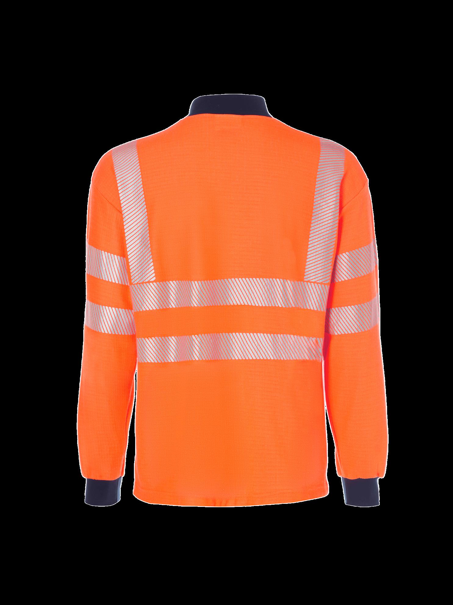 Picture of Hi Vis FR Long Sleeve Polo Shirt - Hi Vis Orange