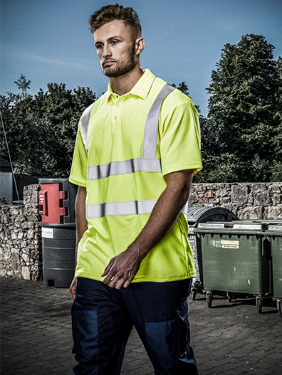Picture of Hi-Vis Polo Short Sleeve - HV Yellow
