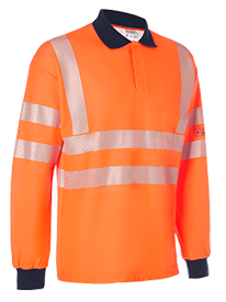 Picture of Hi Vis FR Long Sleeve Polo Shirt