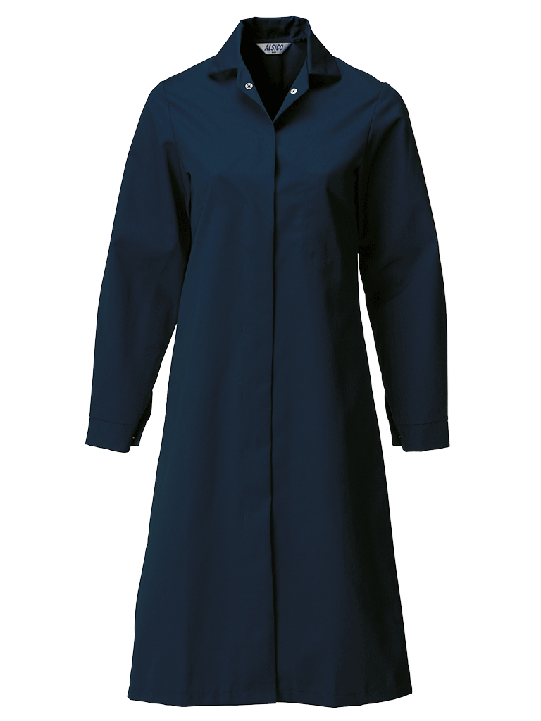 navy food trade coat for ladies