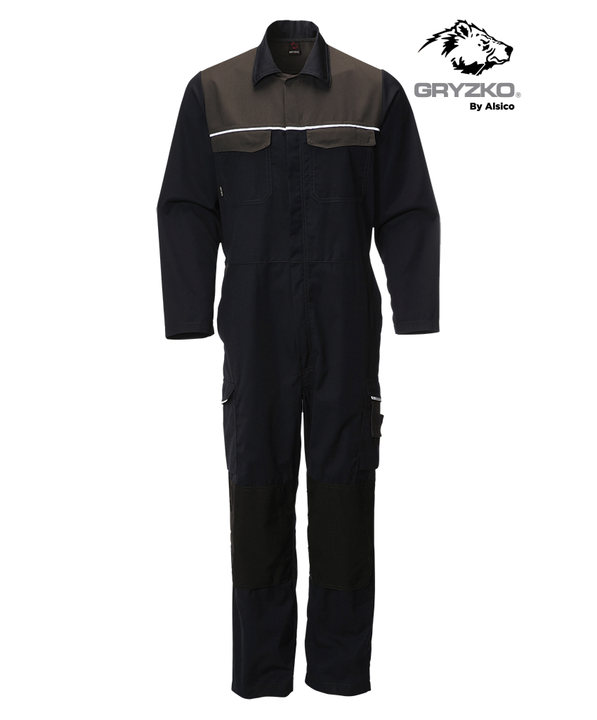 Picture of Gryzko® Classic Coverall - Blue Shadow / Charcoal