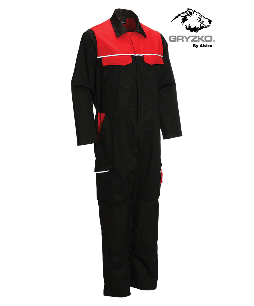 Picture of Gryzko® Classic Coverall - Black / Empire Red