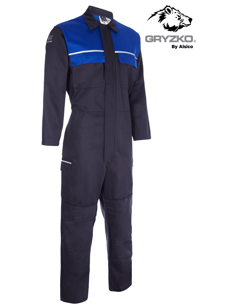 Picture of Gryzko® FR Contrast Coverall - Navy/Royal