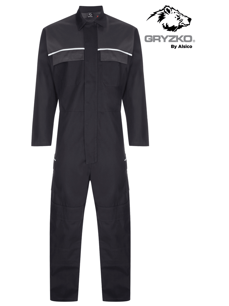 Picture of Gryzko® FR Contrast Coverall- Black Charcoal