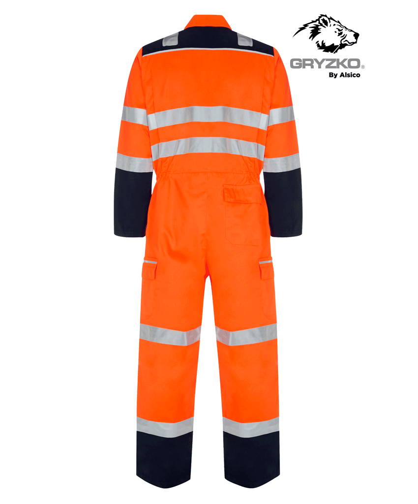 Picture of Gryzko® HI Vis FR Contrast Coverall - Orange/Navy