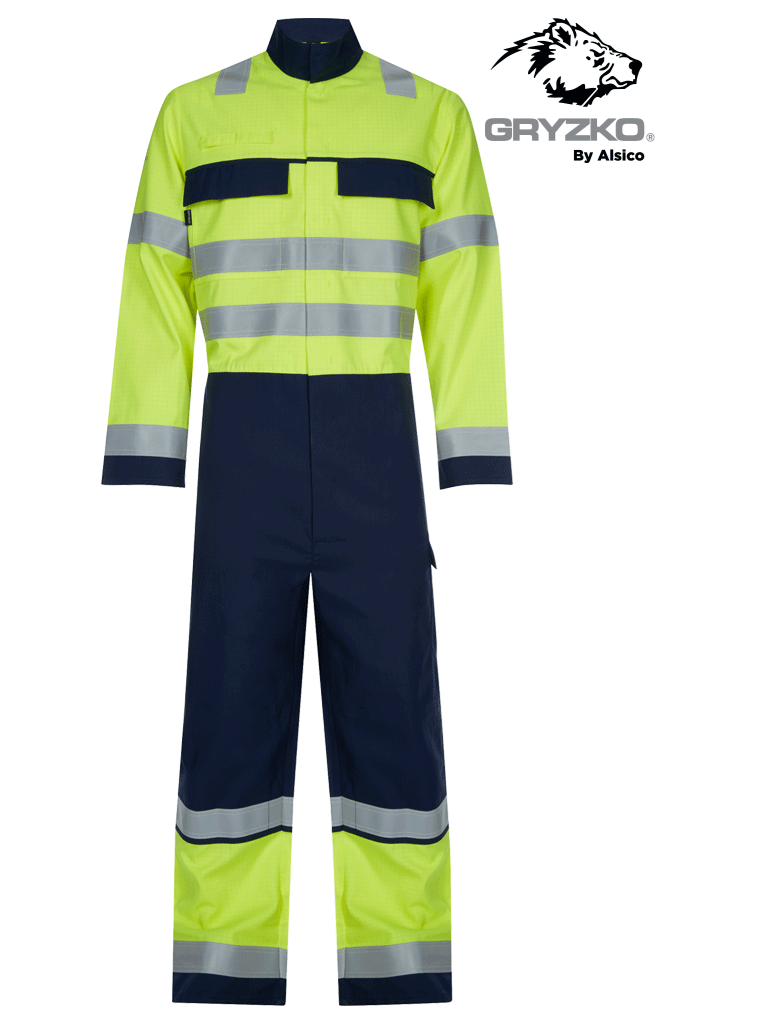 Picture of Gryzko® Multi Protect Coverall - Hi Vis Yellow/Navy