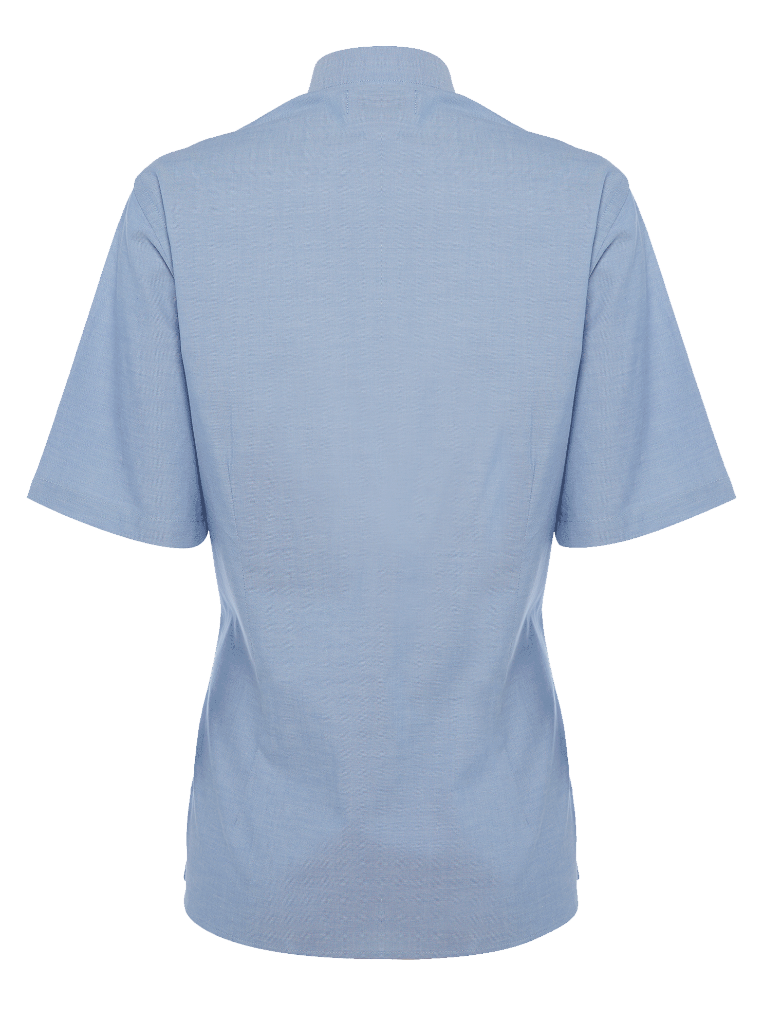 Picture of Ladies Short Sleeve Oxford Shirt - Light Blue