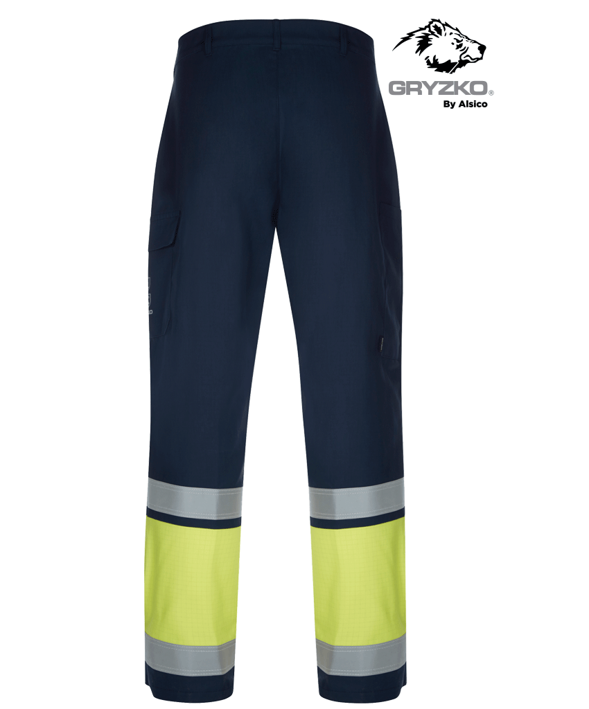 Picture of Gryzko® Multi Protect Trouser - Hi Vis Yellow/Navy