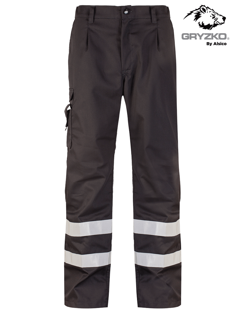 Picture of Gryzko® Cargo Trouser with Reflective Tape - Black