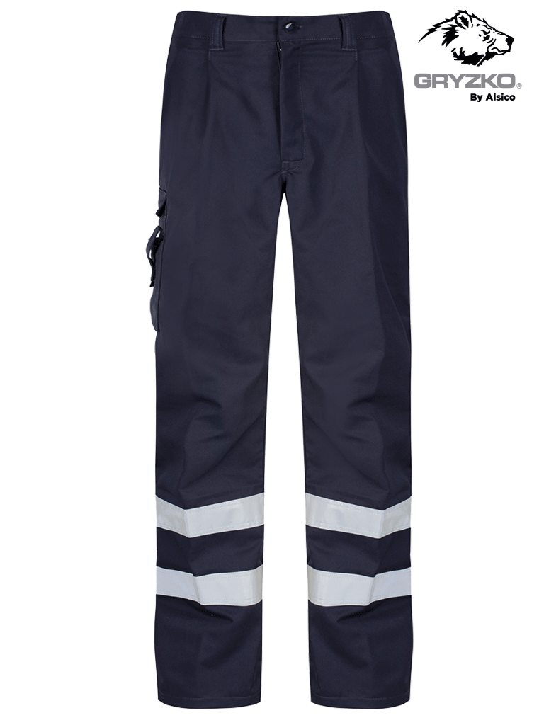 Picture of Gryzko® Cargo Trouser with Reflective Tape - Blue Shadow