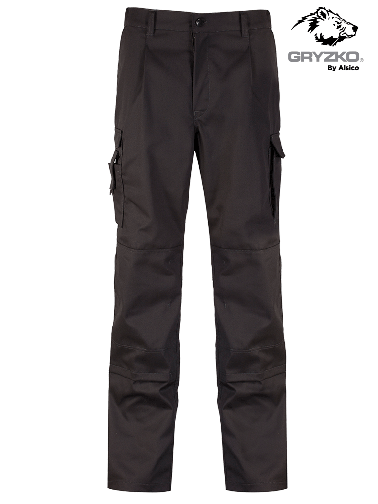 Picture of Gryzko® Stretch Cargo Trouser with Knee Pocket - Black