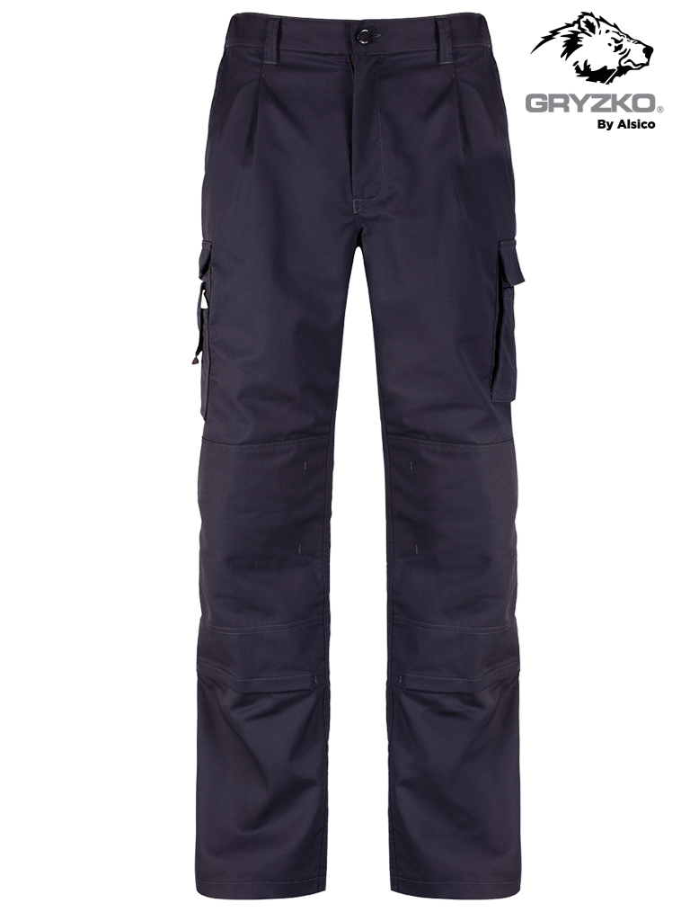 Picture of Gryzko® Stretch Cargo Trouser with Knee Pocket - Blue Shadow