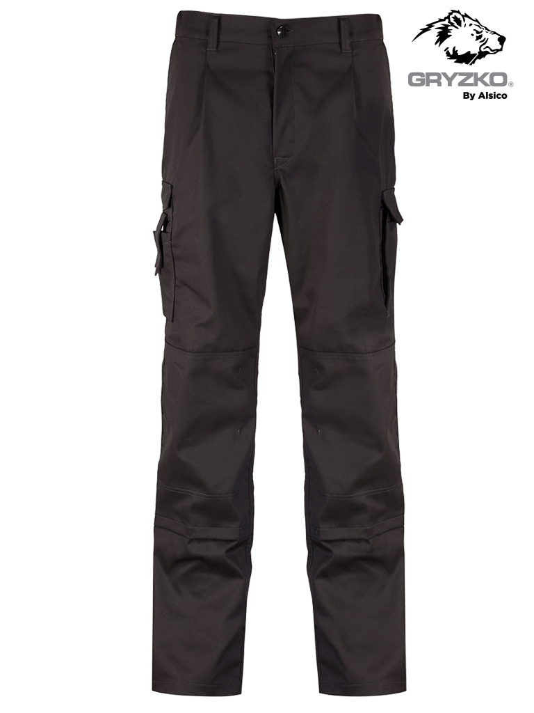 Picture of Gryzko® Cargo Trouser with Knee Pocket - Black