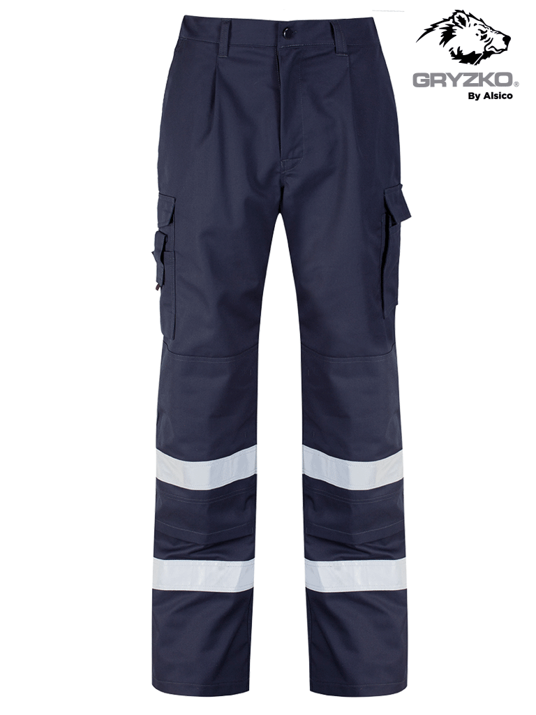 Picture of Gryzko® Cargo Trouser (Reflective Tape & Knee Pocket) - Blue Shadow