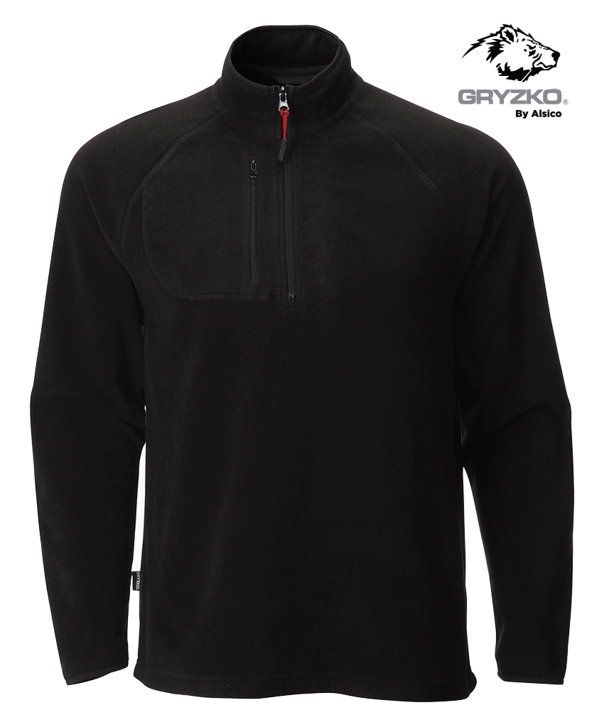 Picture of Gryzko® Half Zip Micro Fleece - Black