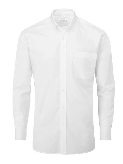 Picture of Long Sleeve Oxford Shirt - White