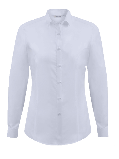 Picture of Ladies Long Sleeve Oxford Shirt - White