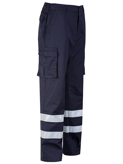 Protective Cargo Trouser Blue Shadow Navy Right Leg
