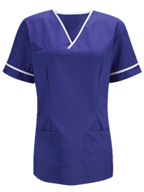 Picture of Executive Scrub Top  - Royal Blue