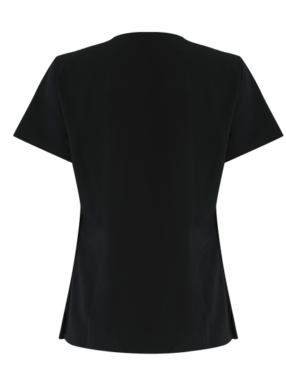 back of the black 4 way stretch tunic