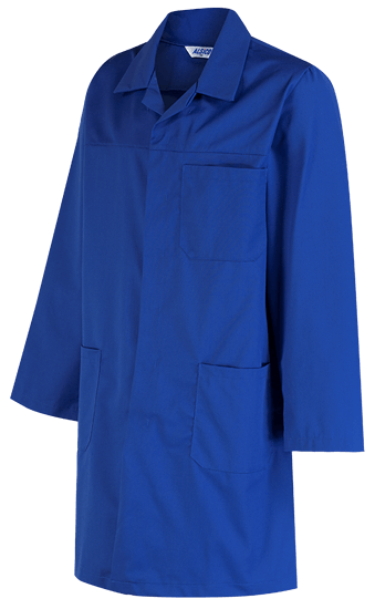 side royal blue polycotton coat