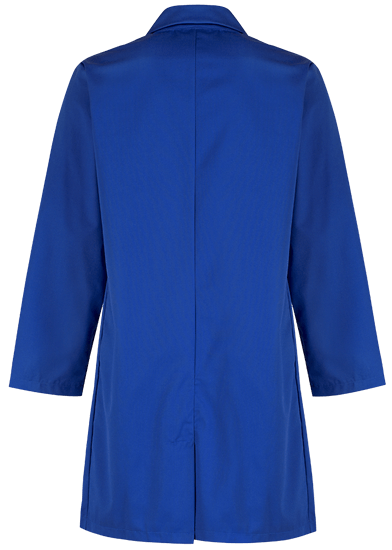 royal blue lab coat