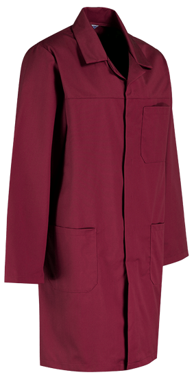 burgundy lab coat