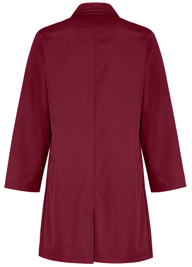 lab coat back red