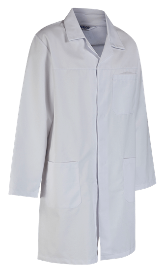 unisex hard wearing lab coat