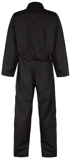 coverall black back