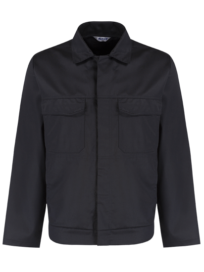 alsico workwear jacket black front