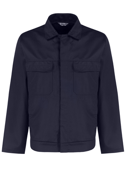 alsico workwear jacket blue shadow front