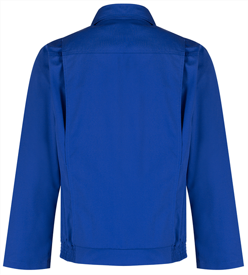 back of the alsi stud jacket in royal blue