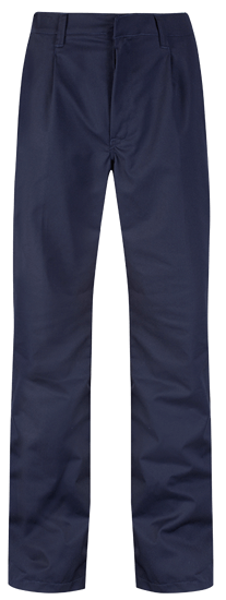 blue shadow front trousers