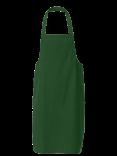 bottle green bib apron