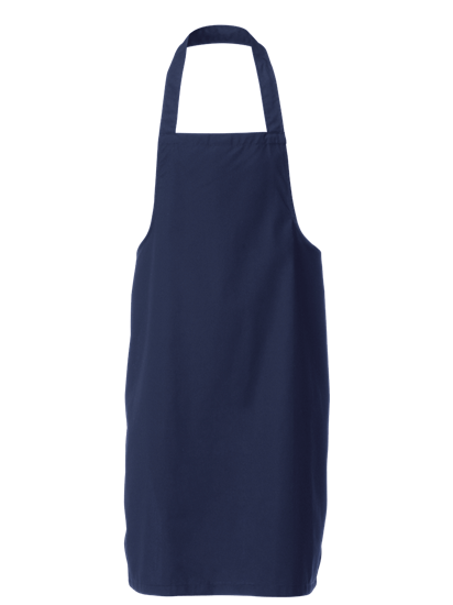 navy bib apron