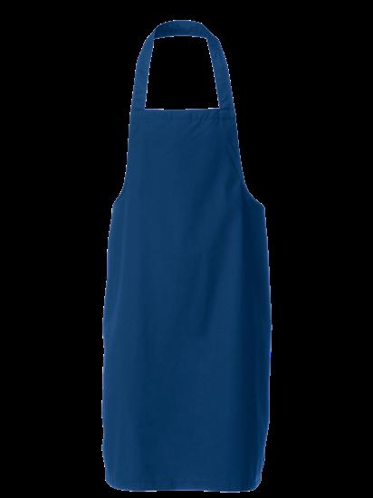royal blue bib apron