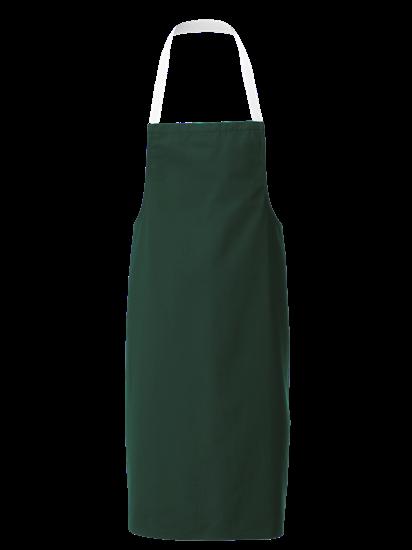 bottle green white halterneck apron