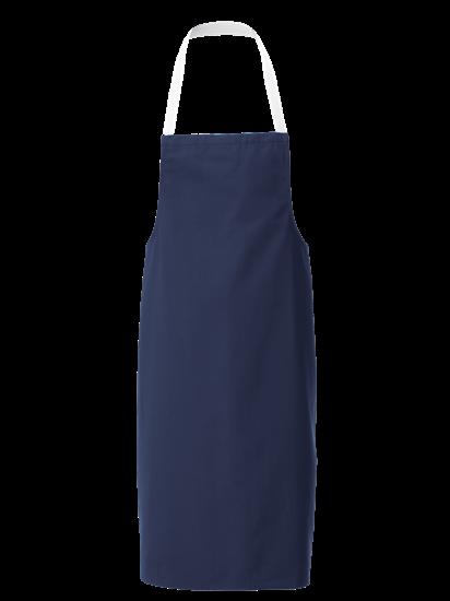 navy white halterneck apron