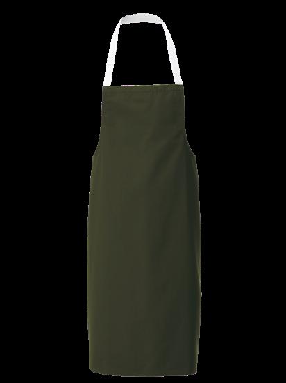 racing green white halterneck apron