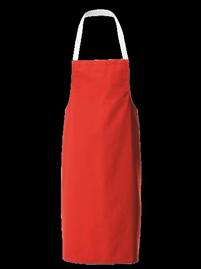 red white halterneck apron