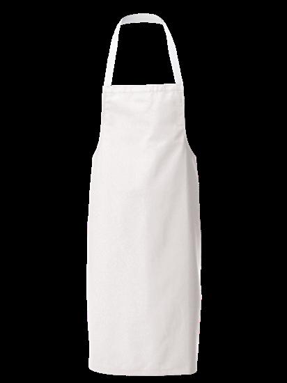super white with white halterneck apron
