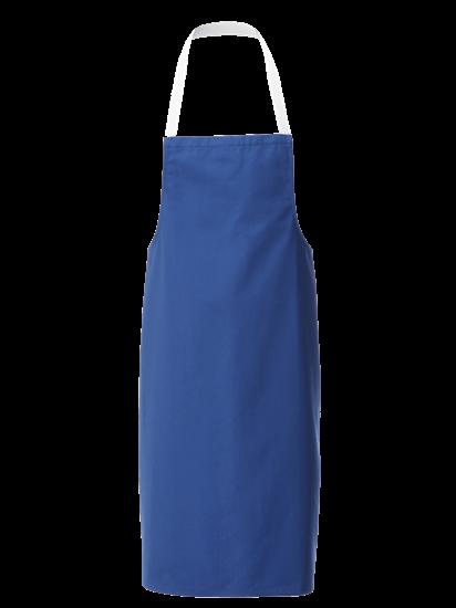royal blue white halterneck apron