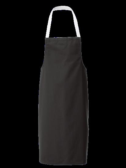 black white halterneck apron