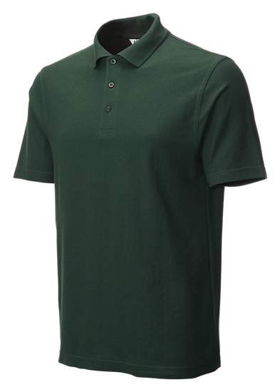 classic polo shirt bottle green side angle