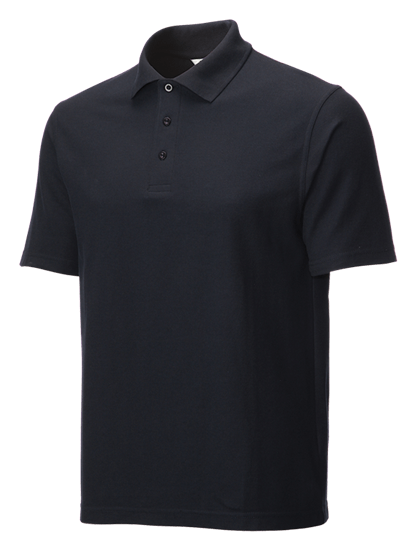 classic polo shirt navy side angle
