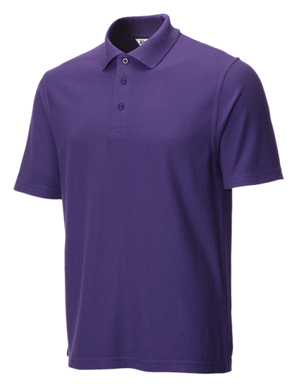 classic polo shirt purple side angle