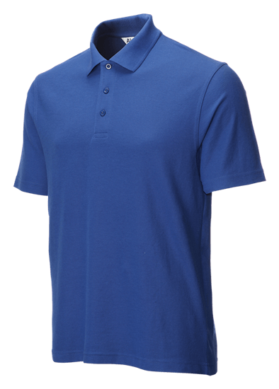 classic polo shirt royal blue side angle