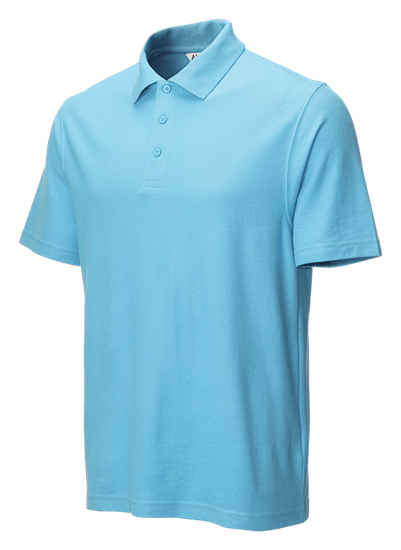 classic polo shirt sky blue side angle